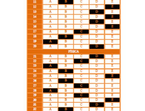 13º Simulado Geral – 1º Dia – 2020 – Gabarito EsPCEx