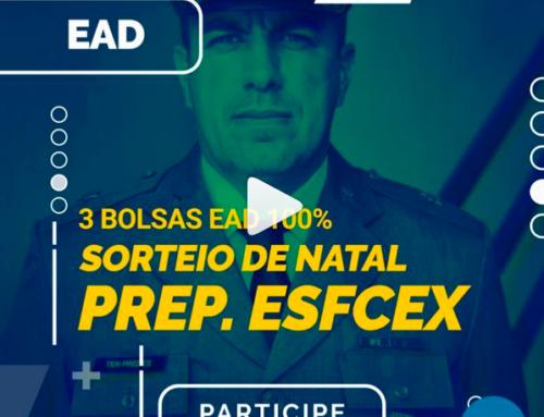 Sorteio de bolsas EAD de 100% para a EsFCEx 2021 no Instagram