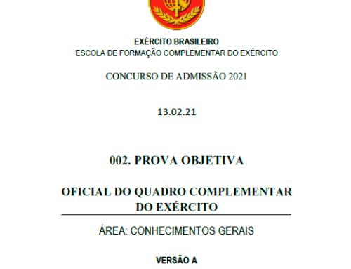 2º Simulado 2021 – Gabarito – EsFCEx