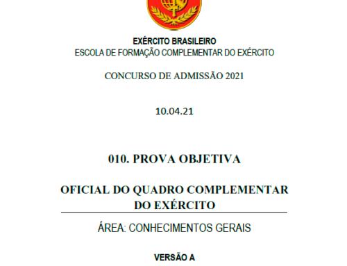 10º Simulado 2021 – Gabarito – EsFCEx
