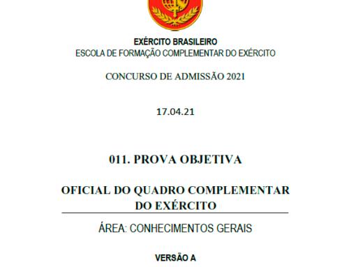 11º Simulado 2021 – Gabarito – EsFCEx