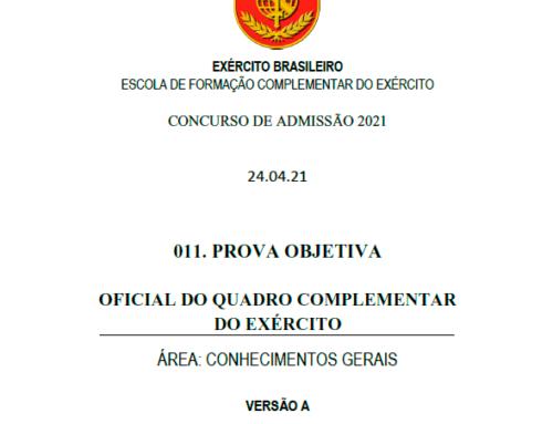 12º Simulado 2021 – Gabarito – EsFCEx