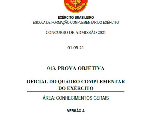 13º Simulado 2021 – Gabarito – EsFCEx