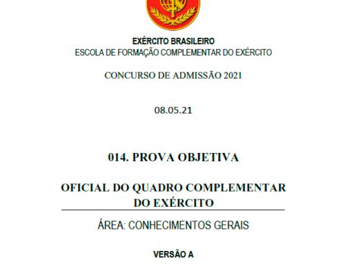 14º Simulado 2021 – Gabarito – EsFCEx