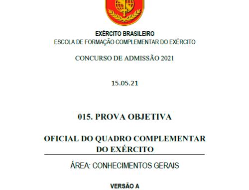 15º Simulado 2021 – Gabarito – EsFCEx