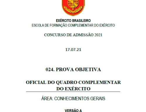 24º Simulado 2021 – Gabarito – EsFCEx
