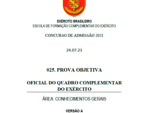 25º Simulado 2021 – Gabarito – EsFCEx