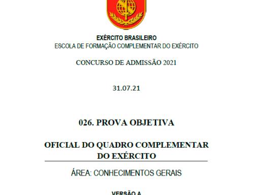 26º Simulado 2021 – Gabarito – EsFCEx