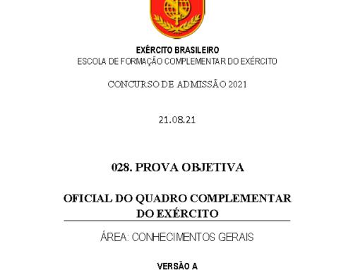29º Simulado 2021 – Gabarito – EsFCEx