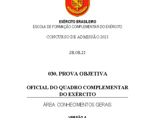 30º Simulado 2021 – Gabarito – EsFCEx